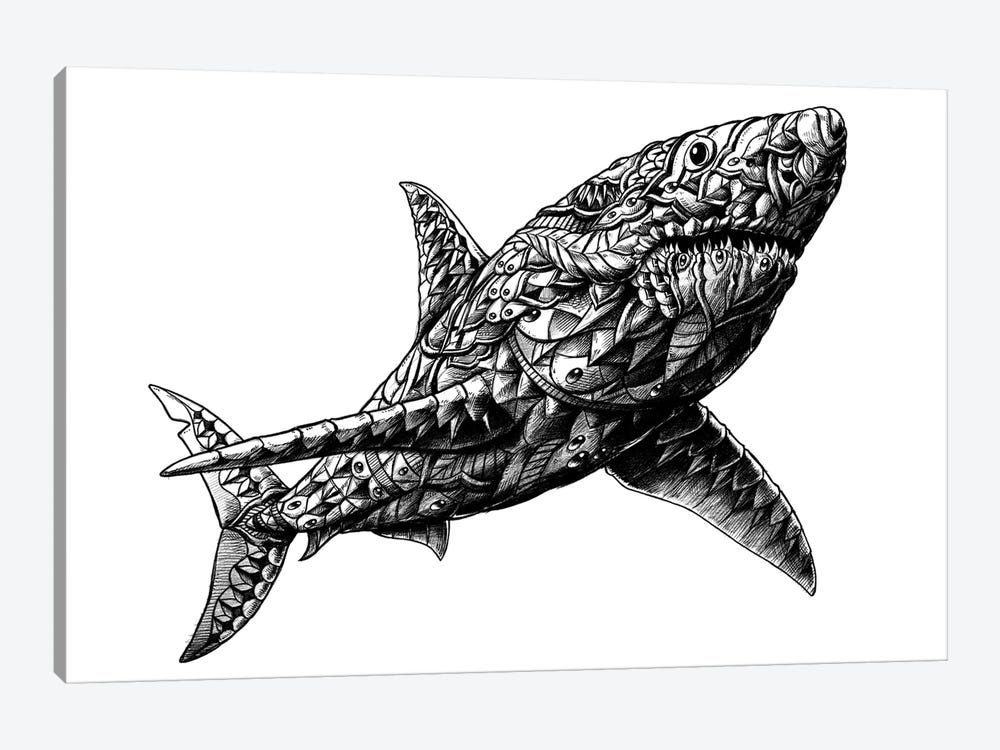 Great White Shark by Bioworkz 1-piece Canvas Artwork