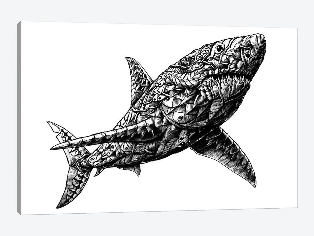 Great White Shark by Bioworkz 1-piece Canvas Artwork