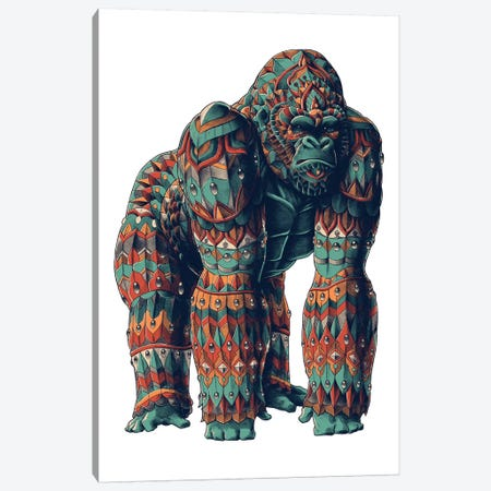 Silverback In Color II Canvas Print #BWZ110} by Bioworkz Canvas Print