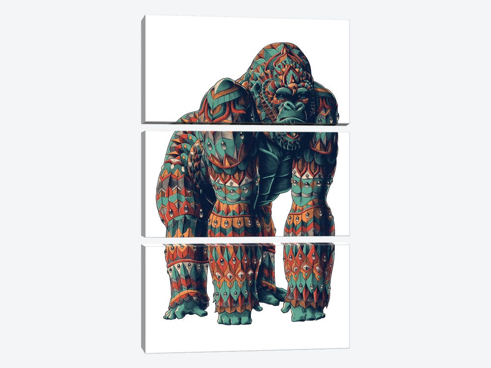 Silverback In Color II by Bioworkz 3-piece Canvas Wall Art
