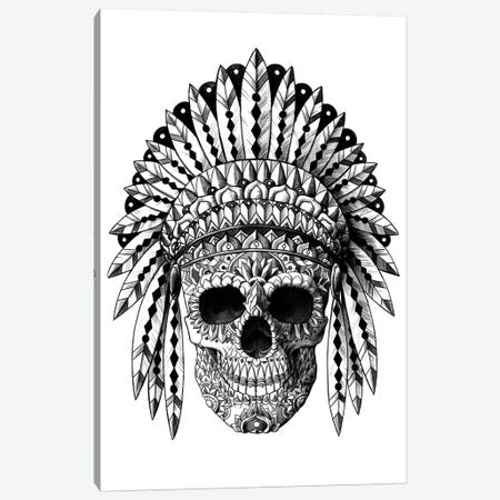 Skull Headdress Canvas Print #BWZ119} by Bioworkz Art Print