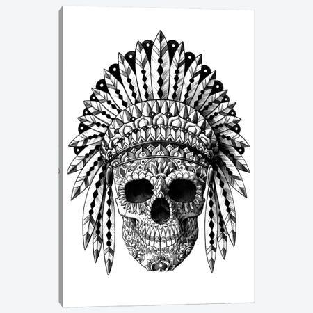 Skull Headdress Canvas Print #BWZ119} by Bioworkz Art Print