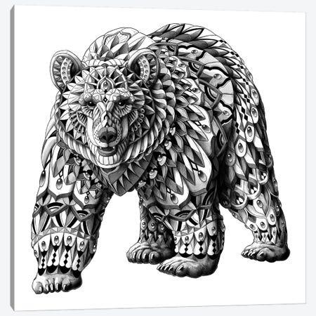 Grizzly Bear Canvas Print #BWZ11} by Bioworkz Canvas Artwork
