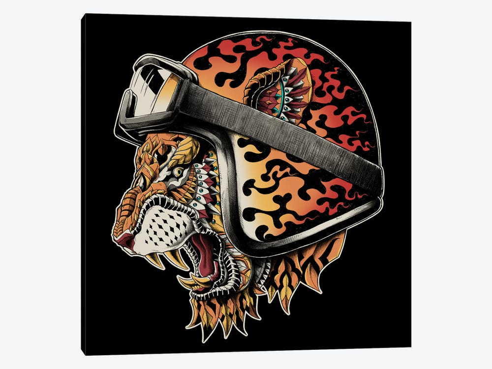 Tiger Helm In Color by BIOWORKZ 1-piece Art Print