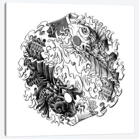 Yin Yang Kois Canvas Print #BWZ123} by Bioworkz Canvas Artwork