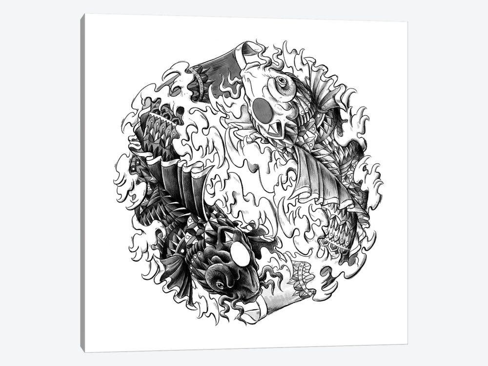Yin Yang Kois by Bioworkz 1-piece Canvas Artwork