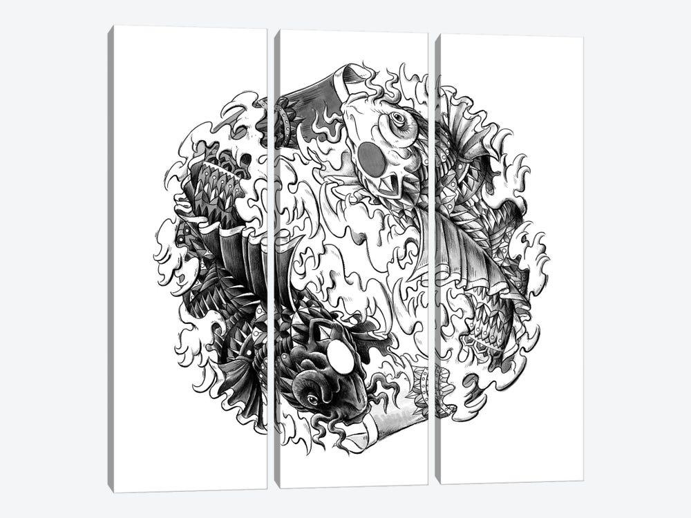 Yin Yang Kois by Bioworkz 3-piece Canvas Art