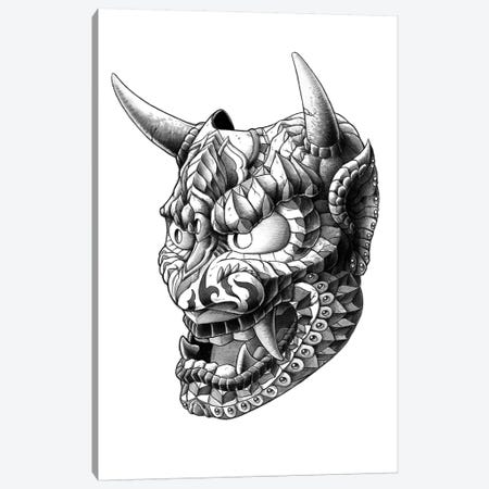 Japanese Demon Mask I Canvas Print #BWZ12} by Bioworkz Canvas Wall Art