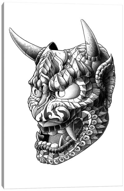 Japanese Demon Mask I Canvas Art Print
