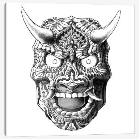 Japanese Demon Mask II Canvas Print #BWZ13} by Bioworkz Canvas Wall Art