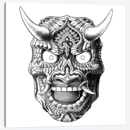 Japanese Demon Mask II Canvas Print #BWZ13} by Bioworkz Canvas Wall Art