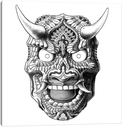 Japanese Demon Mask II Canvas Art Print