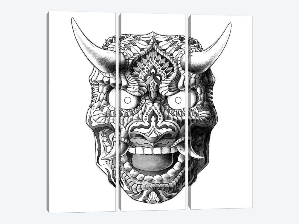 Japanese Demon Mask II by Bioworkz 3-piece Canvas Art Print