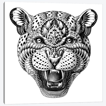 Leopard Canvas Print #BWZ14} by Bioworkz Art Print