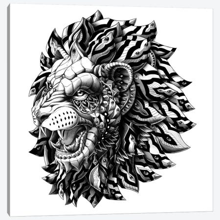 Lion Canvas Print #BWZ15} by Bioworkz Art Print