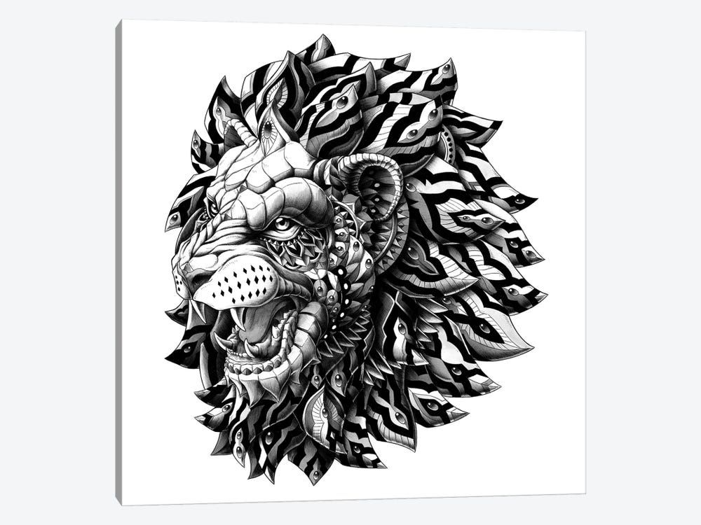 Lion by Bioworkz 1-piece Canvas Print
