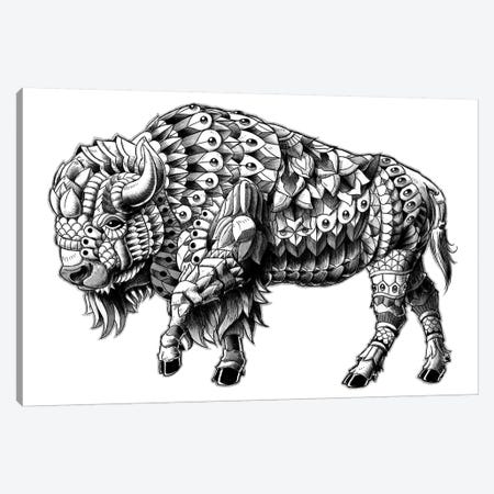 Ornate Bison Canvas Print #BWZ16} by Bioworkz Art Print