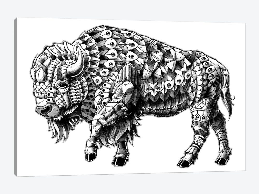 Ornate Bison by Bioworkz 1-piece Canvas Artwork