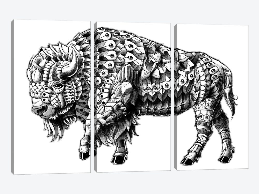 Ornate Bison by Bioworkz 3-piece Canvas Wall Art