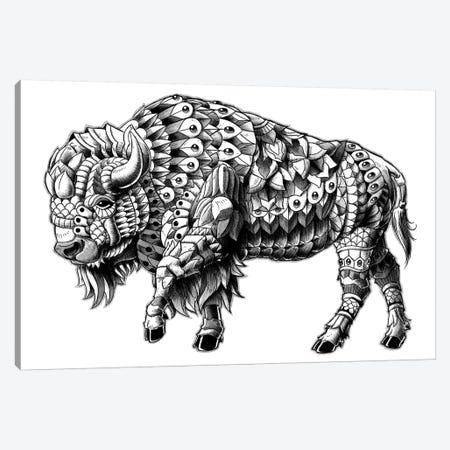 Ornate Bison 3-Piece Canvas #BWZ16} by Bioworkz Art Print
