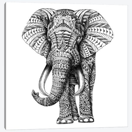 Ornate Elephant I Canvas Print #BWZ18} by Bioworkz Canvas Wall Art