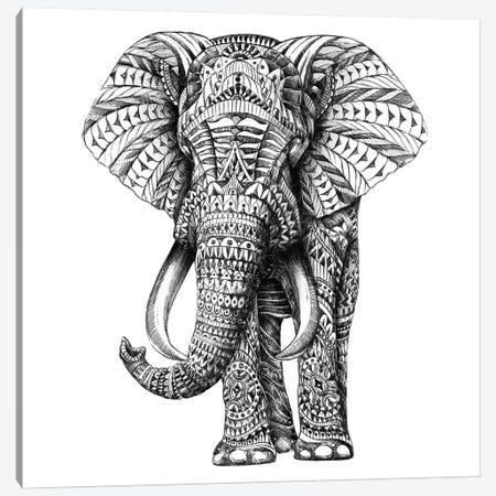 Ornate Elephant I Canvas Print #BWZ18} by Bioworkz Canvas Wall Art