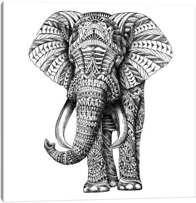 Ornate Elephant I Canvas Art Print