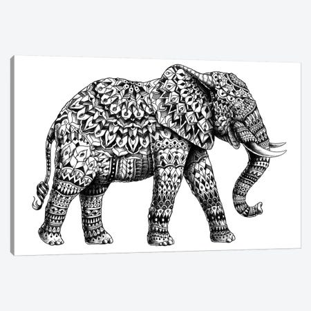 Ornate Elephant II Canvas Print #BWZ19} by Bioworkz Canvas Art