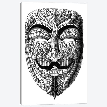 Anonymous Mask Canvas Print #BWZ1} by Bioworkz Canvas Wall Art
