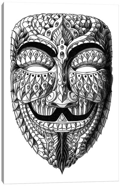 Anonymous Mask Canvas Art Print