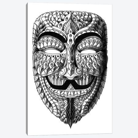 Anonymous Mask Canvas Print #BWZ1} by Bioworkz Canvas Wall Art