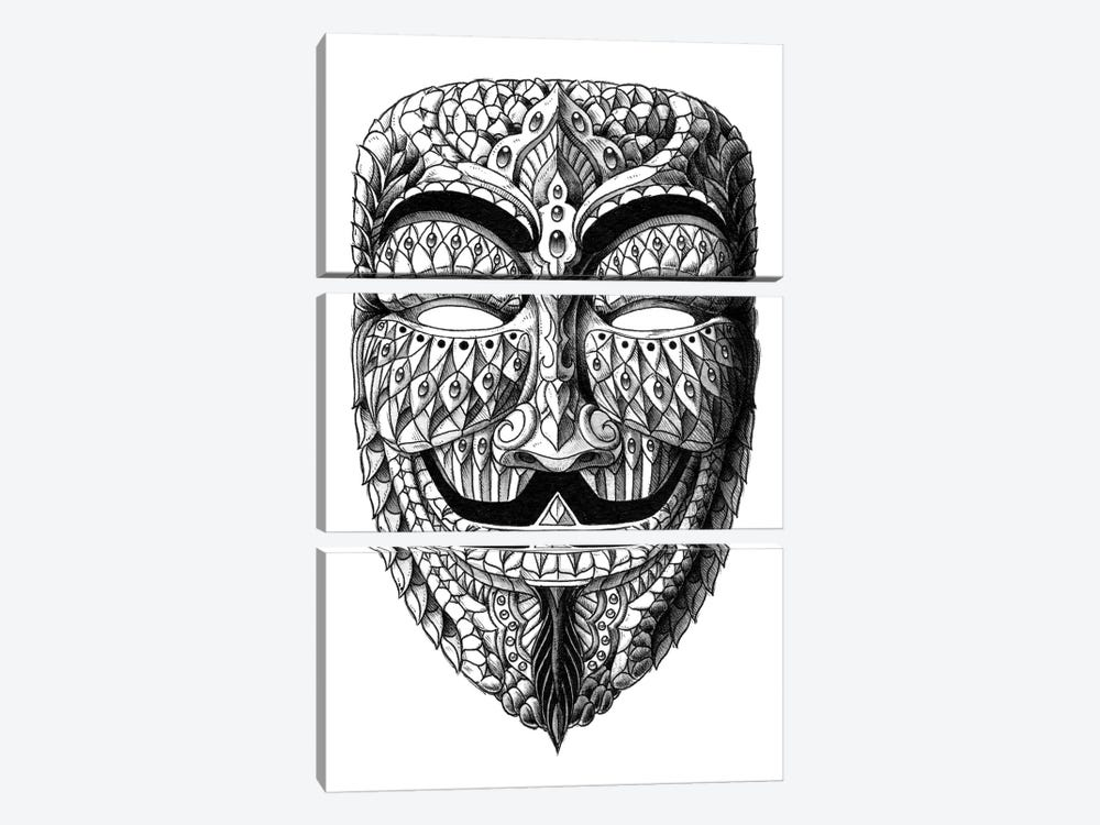 Anonymous Mask by Bioworkz 3-piece Canvas Wall Art