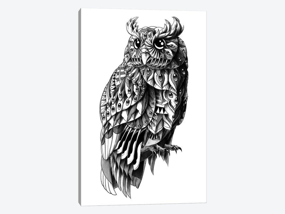 Ornate Owl by Bioworkz 1-piece Canvas Art