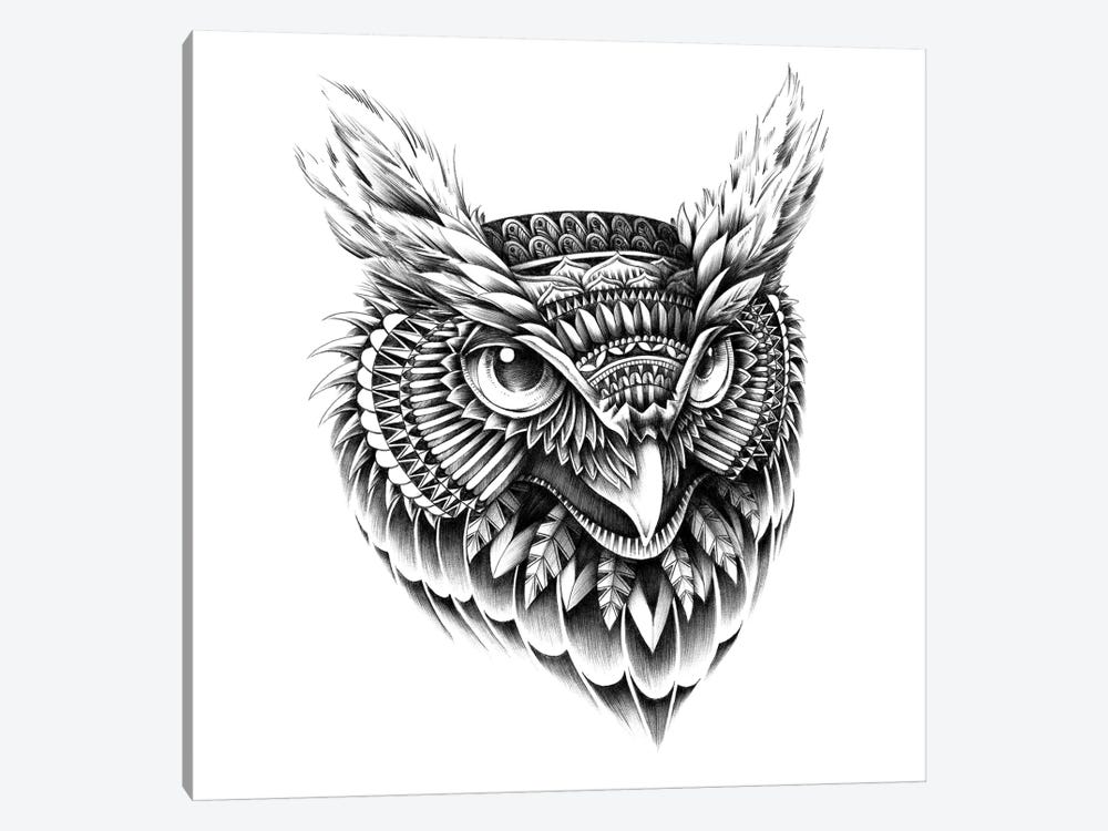 Ornate Owl Head by Bioworkz 1-piece Art Print