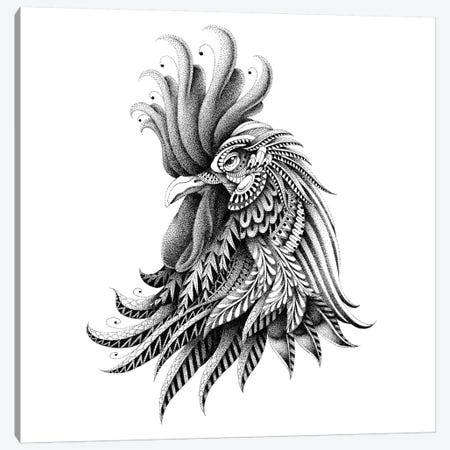 Ornate Rooster Canvas Print #BWZ23} by Bioworkz Canvas Print