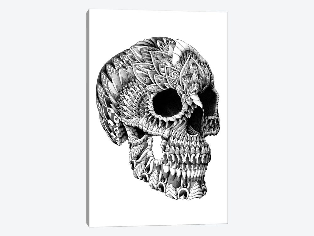 Ornate Skull by Bioworkz 1-piece Canvas Print