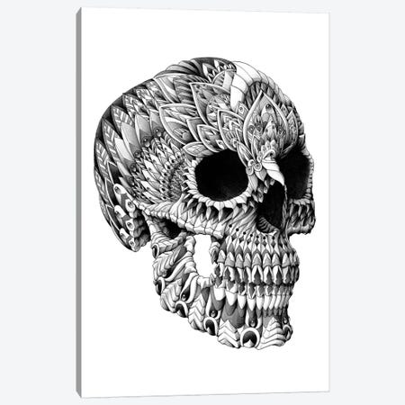 Ornate Skull Canvas Print #BWZ24} by Bioworkz Canvas Artwork