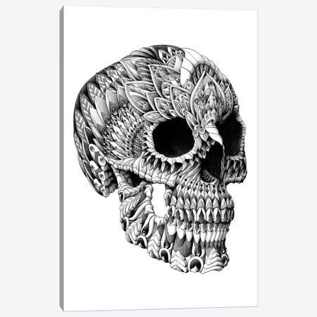 Ornate Skull Canvas Print #BWZ24} by Bioworkz Canvas Artwork