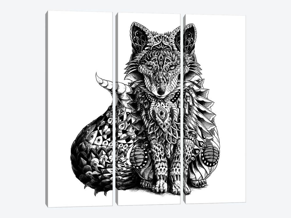 Red Fox by Bioworkz 3-piece Canvas Print