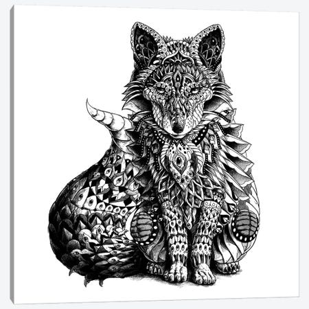 Red Fox Canvas Print #BWZ28} by Bioworkz Canvas Print