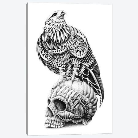 Red-Tailed Skull Canvas Print #BWZ29} by Bioworkz Canvas Art Print