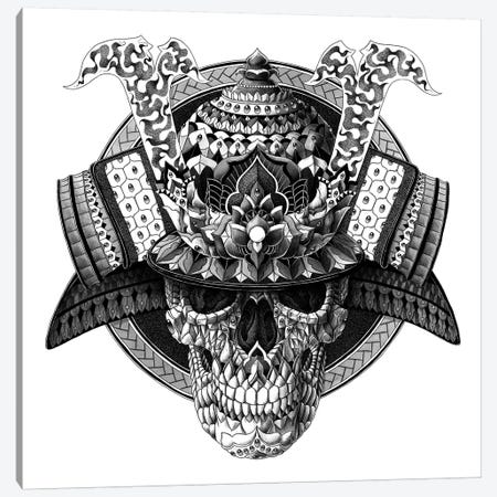 Samurai Skull Canvas Print #BWZ31} by Bioworkz Canvas Art