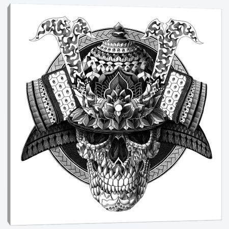 Samurai Skull Canvas Print #BWZ31} by Bioworkz Canvas Art