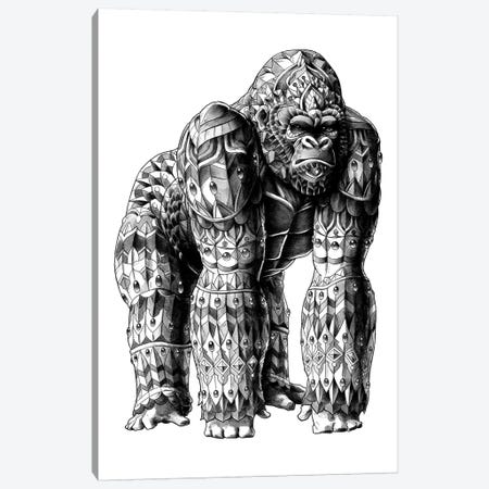 Silverback Canvas Print #BWZ32} by Bioworkz Canvas Artwork