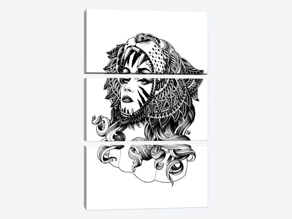 Tigress by Bioworkz 3-piece Canvas Art Print