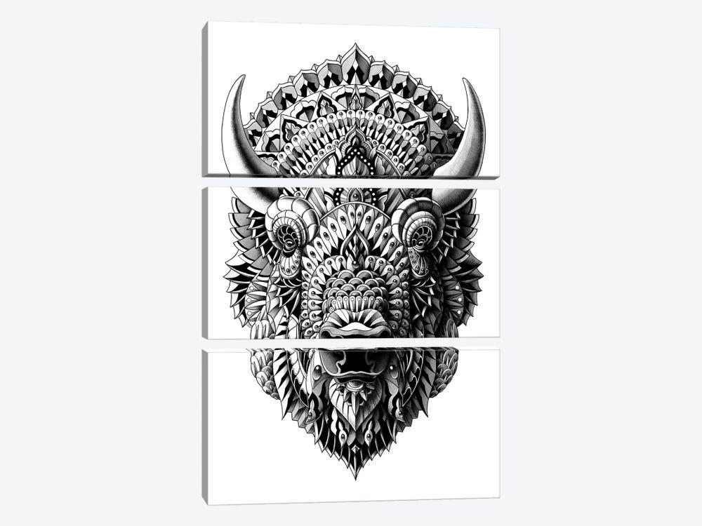 Bison by Bioworkz 3-piece Canvas Artwork