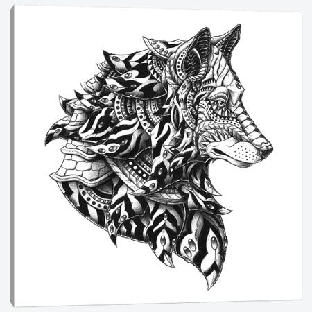 Wolf Profile Canvas Print #BWZ40} by Bioworkz Canvas Art Print