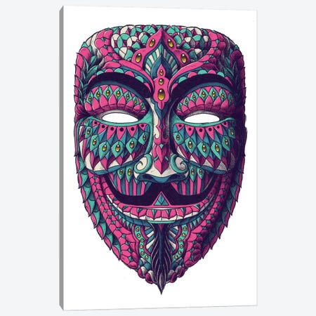 Anonymous Mask In Color I 3-Piece Canvas #BWZ41} by Bioworkz Canvas Art Print