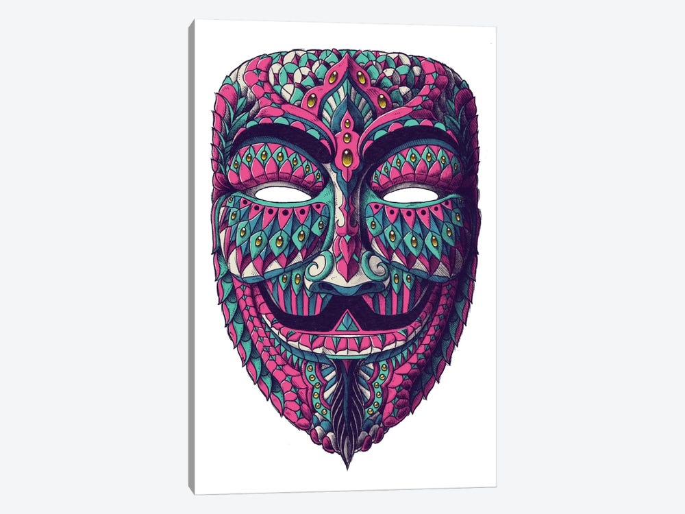 Anonymous Mask In Color I by Bioworkz 1-piece Canvas Artwork