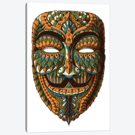 Anonymous Mask In Color II Canvas Print #BWZ42} by Bioworkz Art Print